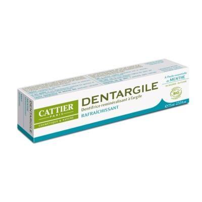 Cattier Paris Dentifrice Dentargile menthe bio et argile, 75 ml