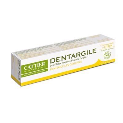 Cattier Paris Dentifrice Dentargile citron bio et argile, 75 ml
