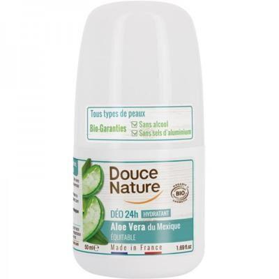 Douce Nature Déodorant bille hydratant peaux sensibles bio, 50 ml