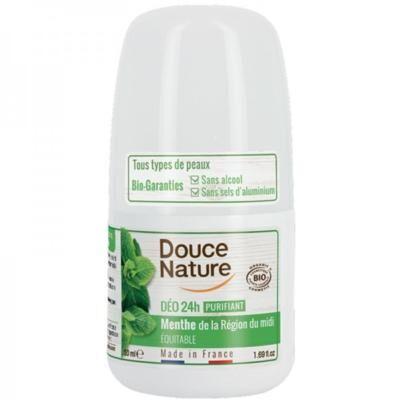 Douce Nature Déodorant bille à la menthe bio, 50 ml