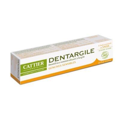 Cattier Paris Dentifrice Dentargile sauge bio et argile, 75 ml