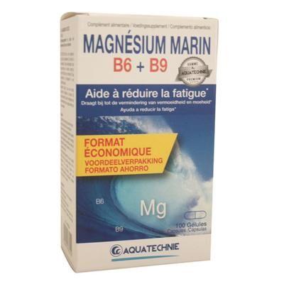 Aquatechnie Magnésium marin B6 et B9, 100 gélules
