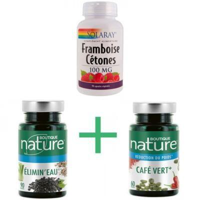 Boutique Nature 1 Cétone de framboise, 1 café vert, 1 élimine