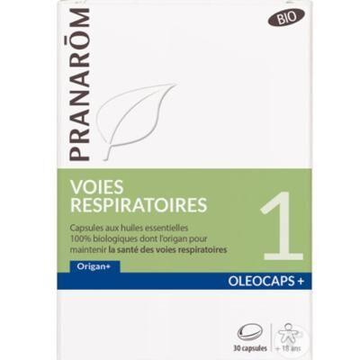 Pranarom Voies respiratoires et origan bio, 30 cps