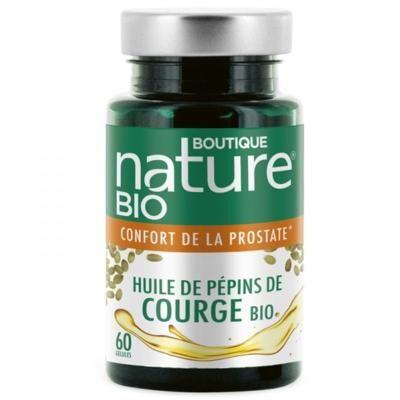 Boutique Nature Huile de pépins de courge bio, 60 gélules