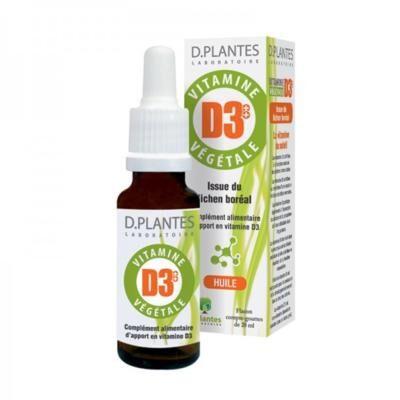 D-Plantes Laboratoire Vitamine D3 végétale, 20 ml
