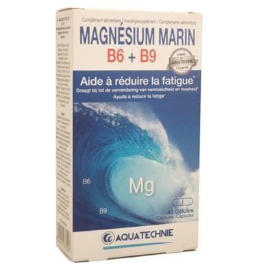 Aquatechnie Magnésium marin B6 - B9, 40 gélules