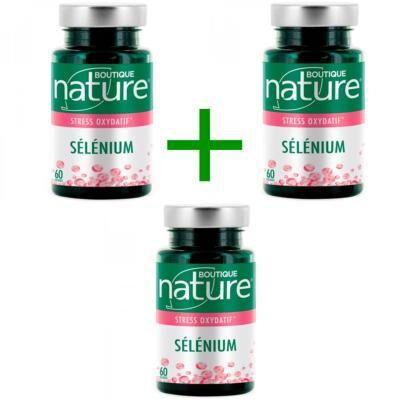 Boutique Nature Sélénium, lot de 3 boîtes de 60 gélules
