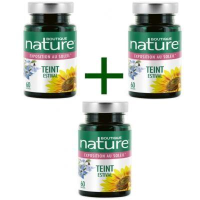 Boutique Nature Teint estival, 3 boîtes, de 60 gélules