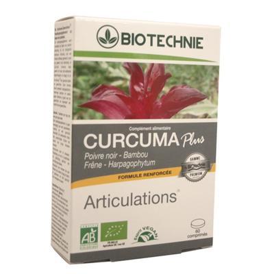 Biotechnie Curcuma bio Plus Articulation, 60 comprimés