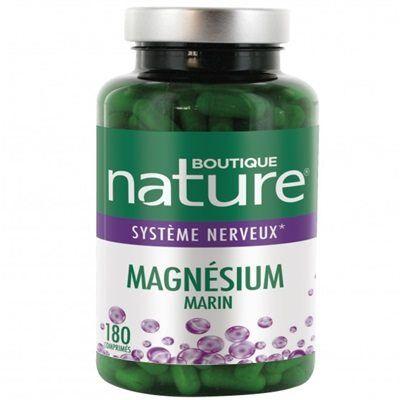 Boutique Nature Magnésium marin, 180 comprimés format Eco