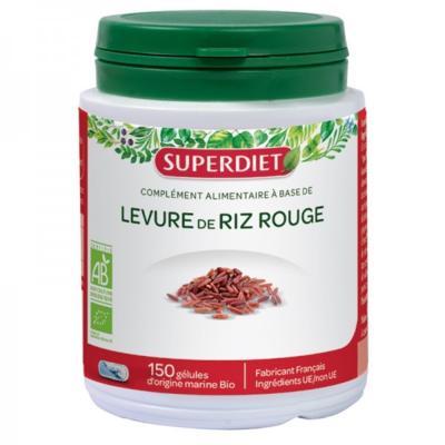 Superdiet Levure de riz rouge bio, 150 gélules