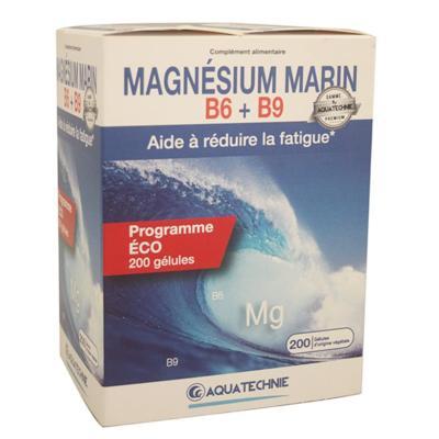 Aquatechnie Magnésium marin B6 et B9, 200 gélules