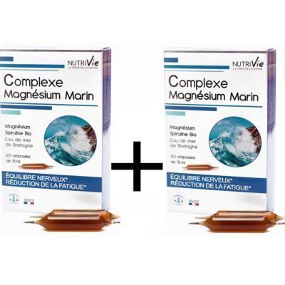 Nutrivie Magnésium marin, 40 ampoules