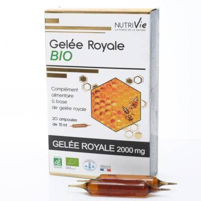 Nutrivie Gelée royale bio, 20 ampoules de 15 ml