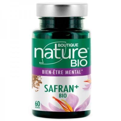 Boutique Nature Safran + bio, 60 gélules