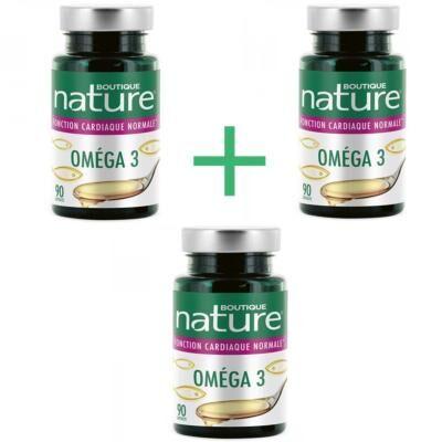 Boutique Nature Oméga 3, lot de 3 boîtes de 90 capsules