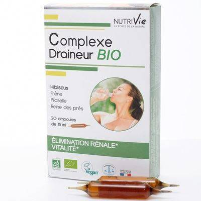 Nutrivie Complexe draineur bio, 20 ampoules de 15 ml