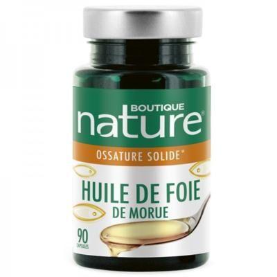 Boutique Nature Huile de foie de morue, 90 capsules
