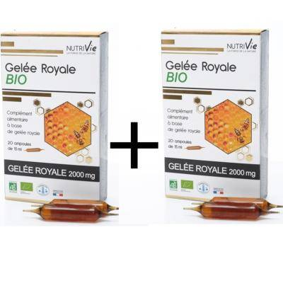 Nutrivie Gelée royale bio, 40 ampoules de 15 ml