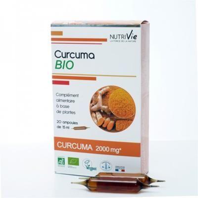 Nutrivie Curcuma bio, 20 ampoules de 15 ml