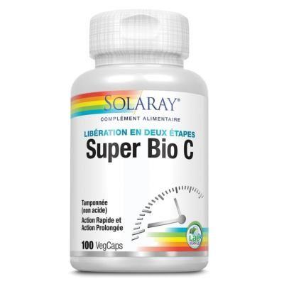 Solaray Super bio C  vitamine c tamponnée - 100 capsules
