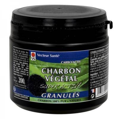 Vecteur Santé Charbon vegétal granulés, 200 grammes