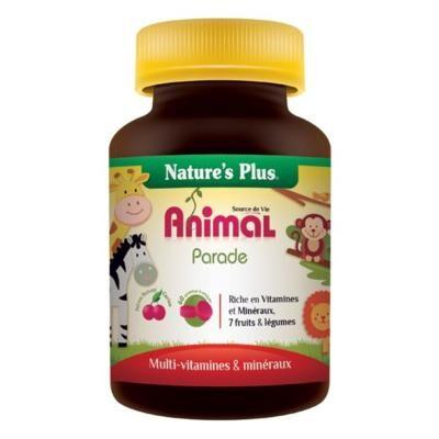 Natures Plus Animal Parade goût cerise, 60 comprimés