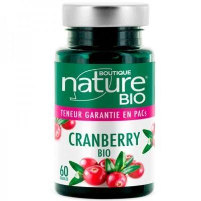 Boutique Nature Cranberry bio, 60 gélules