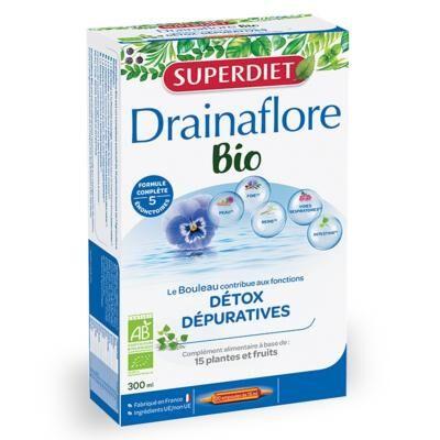 Superdiet Drainaflore bio - 20 ampoules