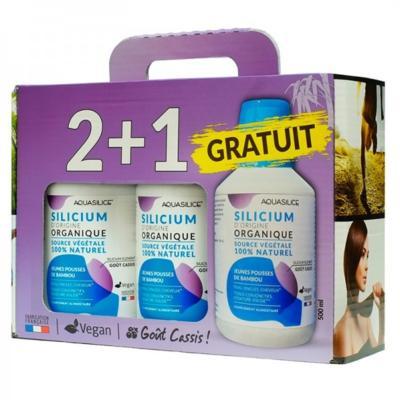 Aquasilice Silicium végétal, 2 Blle achetées et 1 offerte