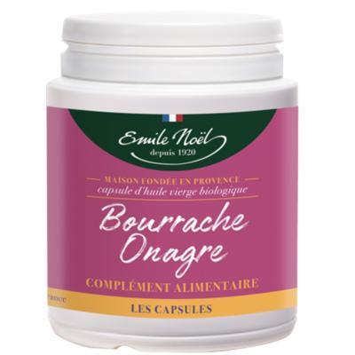 Emile Noël Onagre bourrache bio, 200 capsules