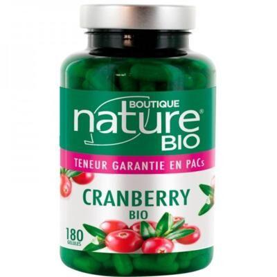Boutique Nature Cranberry canneberge bio, 180 gélules