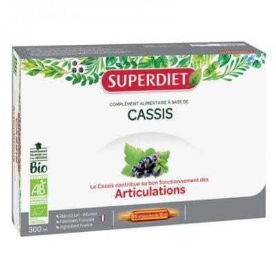 Superdiet Cassis bio, 20 ampoules