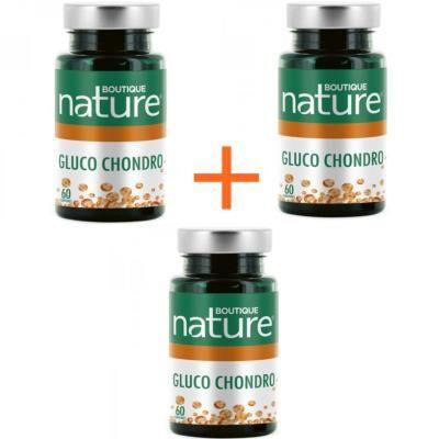 Boutique Nature Glucosamine et chondroïtine, 3 boîtes de 60 cp