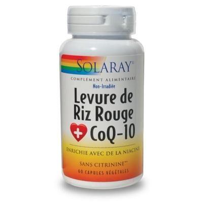 Solaray Levure de riz rouge Q10, 60 capsules