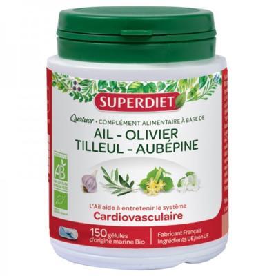 Superdiet Quatuor cardiovasculaire bio, 150 gélules