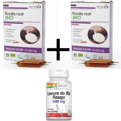 Solaray et Biotechnie 1 levure de riz rouge et 2 radis noirs bio