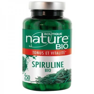 Boutique Nature Spiruline bio, 250 comprimés