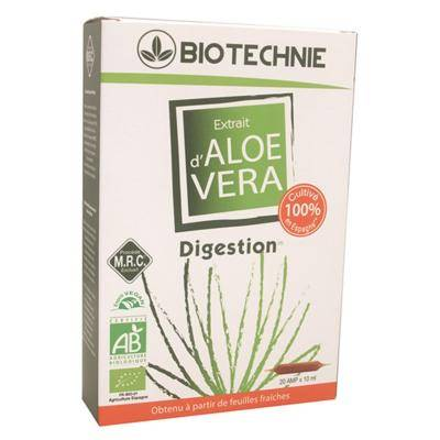 Biotechnie Extrait aloe vera bio - 20 ampoules