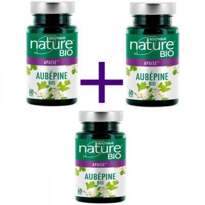 Boutique Nature Aubépine bio en gélules, 3 X 60 gélules