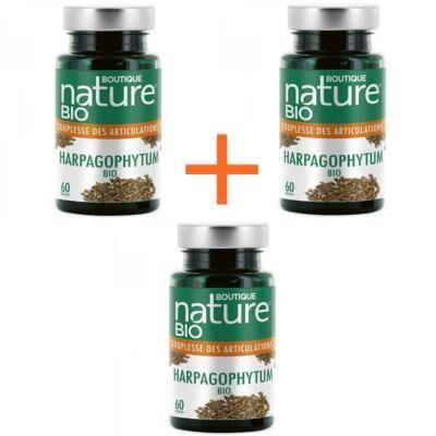 Boutique Nature Harpagophytum bio, 3 boîtes de 60 gélules