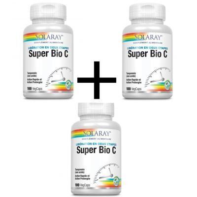 Solaray Super bio C - 3 boîtes de 100 capsules