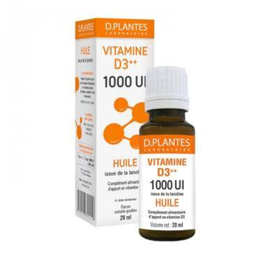 D-Plantes Laboratoire Vitamine D3 1000 huile, flacon 20 ml