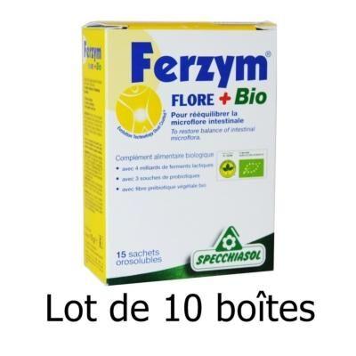 Specchiasol 10 boîtes de Ferzym bio 15 sachets de 1 gr