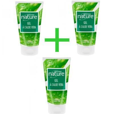 Boutique Nature Gel d'aloé véra bio, 3 tubes de 125 ML