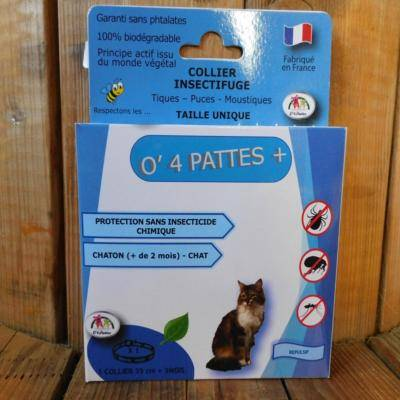 O 4 Pattes Collier anti puce chats et chatons