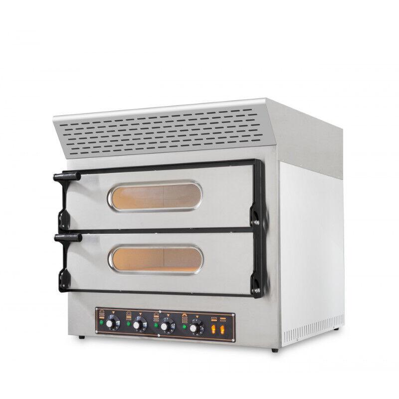 GASTROMASTRO Four pizzas charbon actif - 4 pizzas - 230 V. - 4 x 30 cm - équipé d'une hotte d'extraction de fumée