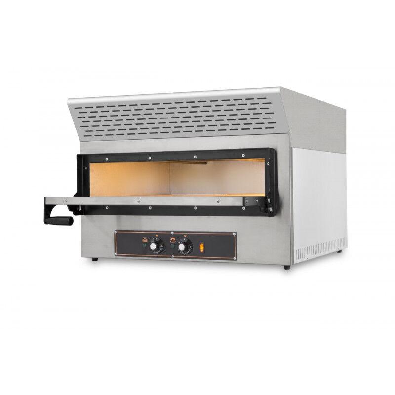 GASTROMASTRO Four pizzas charbon actif - 2 pizzas - 230 V. - 2 x 30 cm - équipé d'une hotte d'extraction de fumée