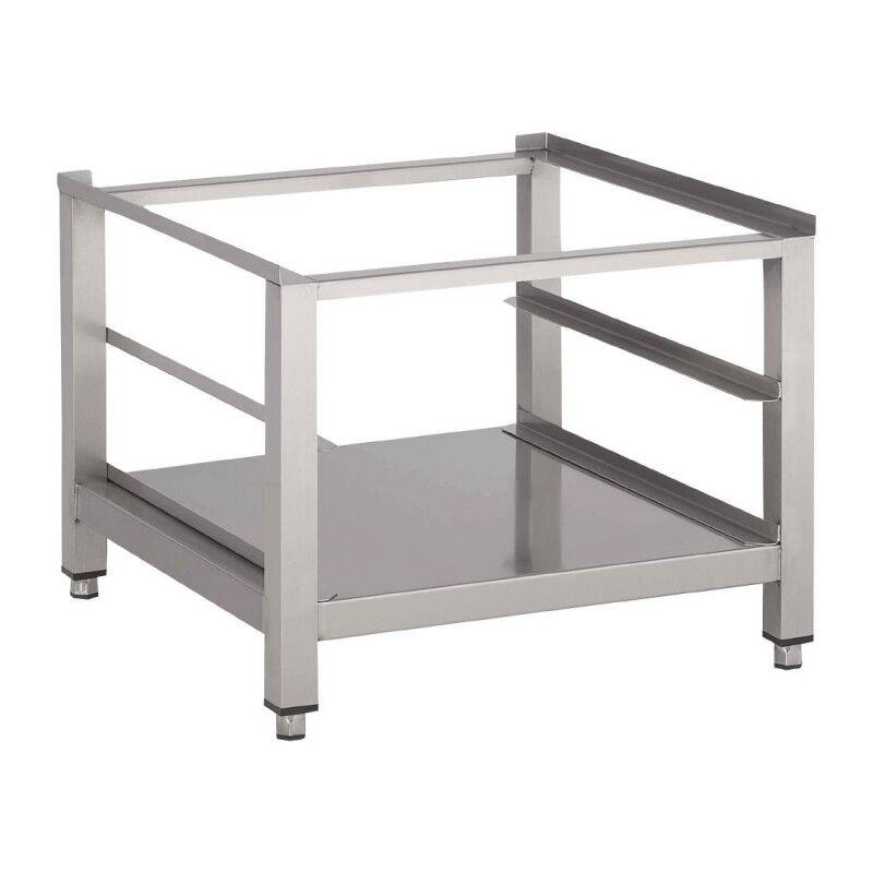 GASTROMASTRO Support lave-vaisselle / lave-verres - Inox avec tablette inférieure - 600 x 600 x 400 mm